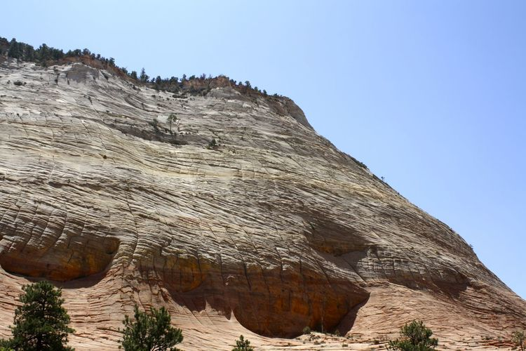 Textured eroded canyon hill