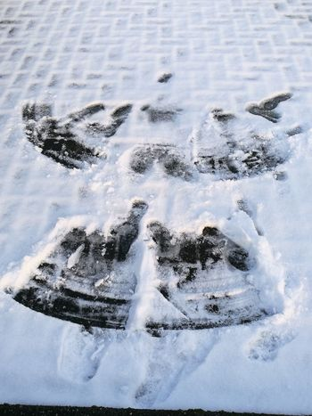 Winter Cold Temperature Snow High Angle View Day No People Outdoors Close-up Snowangel