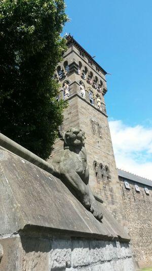 Cardiff Stone Castle Clocktower Gargoyle Panther Stone Masonry Animal Wall City Historical History Your Ticket To Europe