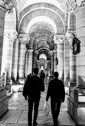 Architecture Two People Arch Men Architectural Column Travel Destinations Madrid Church Crypt Break The Mold The Architect - 2017 EyeEm Awards