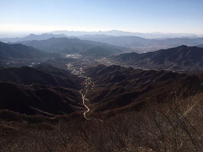 Beautiful View Landscape Climbing A Mountain