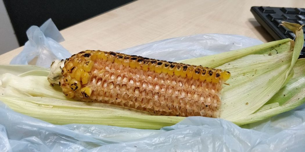 roasted 🌽 with lemon and spices.. yum yum Corn Roasted Close-up Food And Drink Sweetcorn