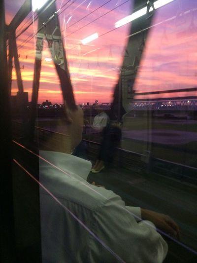 Window Reflections Sunset Beautiflesky
