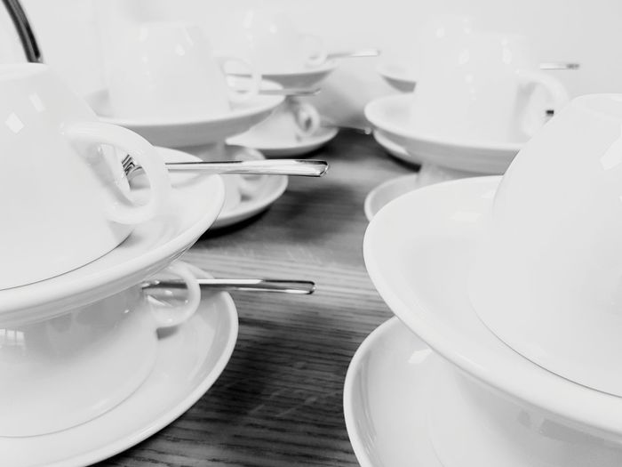 Kaffee Tassen EyeEmNewHere EyeEm Best Shots EyeEm Selects EyeEm Gallery Eye4photography  Coffee Cup Coffee Coffee Time Coffee ☕ Morning Good Morning Happy Love Nice Plate Dumpling  Table Fork Place Setting Close-up Food And Drink Empty Plate Silverware  Setting The Table