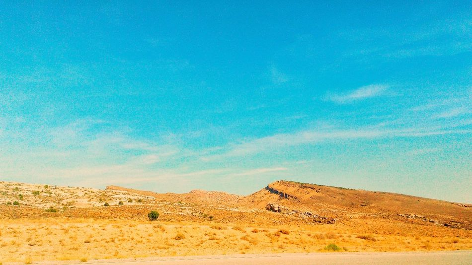 EyeEm Selects Fall In The Desert... With Plate Tectonics...Jutting Up... Paint The Town Yellow Pattern Desert Beauty In Nature EyeEm Gallery Sunlight Popular Photographs Check This Out! The Week On EyeEm Beautiful Nature Nature Outdoors No People Landscape Yellow Scenics Sky Field Bright Colors Beautiful Plate Tectonics Geology Geological Formation Geological Landscape