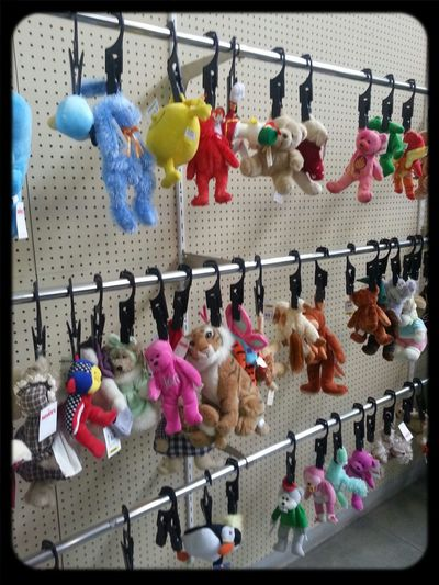 Stuffed Animals Hanging Around Ouch! Thrift Shop