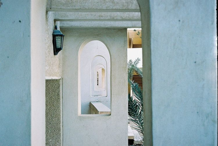 Film Arch Architecture Building Building Exterior Built Structure Closed Day Door Entrance Film Photography House No People Outdoors Protection Safety Security Wall Wall - Building Feature White Color Window The Art Of Street Photography