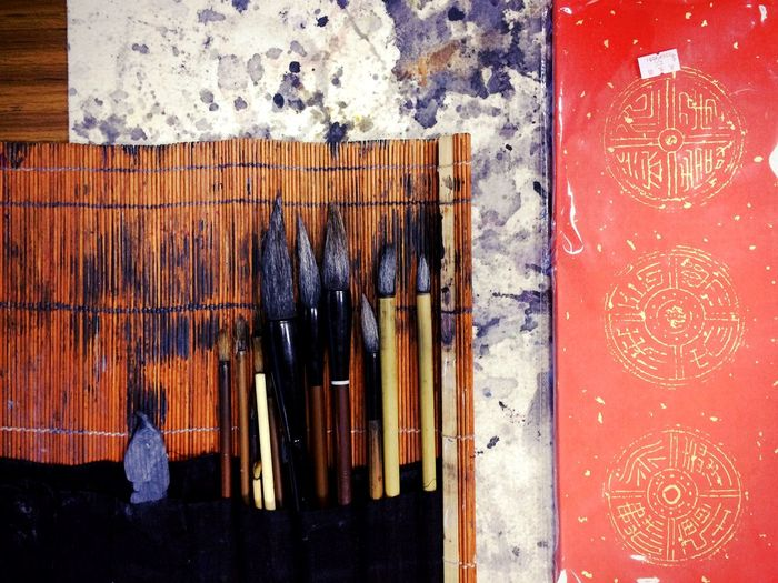 Pen Chinese Culture Ink Chinese Typography Ready Happy New Year Art Traditional Typography Chinese Pen Fai Chun Red Banner Red Couplets Brush Writing Brush Calligraphy Calligrapher Handwriting  Showcase: February