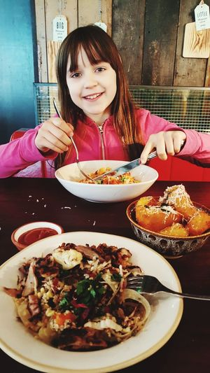 Lunch with Lilah Girl Daughter Lunch Girls That Lunch Special Treat Mother Daughter Time Love Eating Plate Sitting Smiling Healthy Lifestyle Portrait Table Women Savory Food Spaghetti Pasta Main Course Italian Food Dish Italian Culture