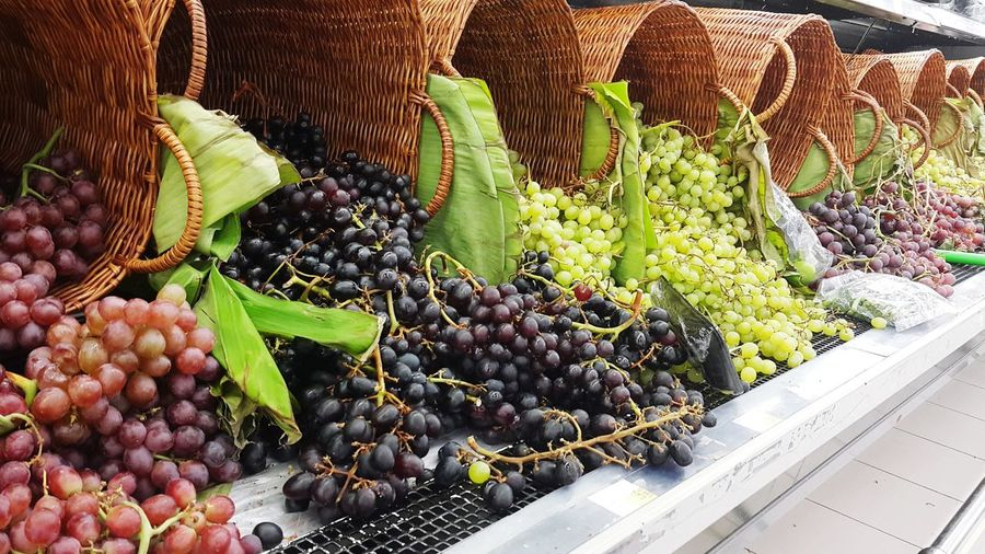 Grapes in market for sale