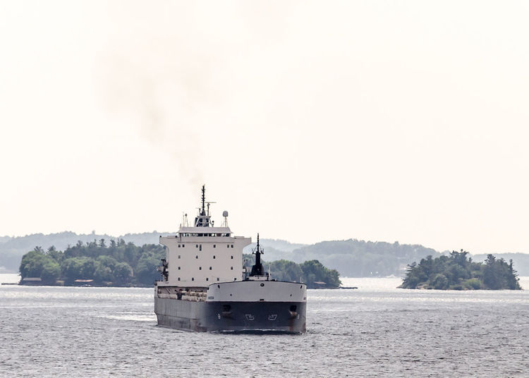 Tanker Cargo Day Nautical Vessel Outdoors Sea Ship Shipping  Sky St Lawrence River Summer Water