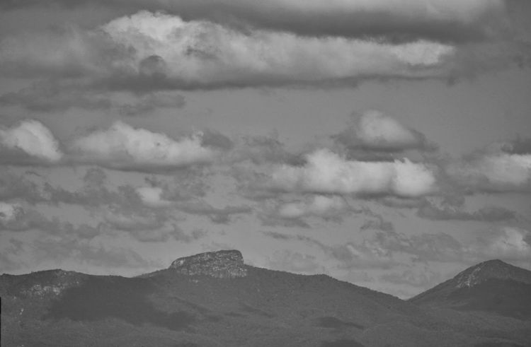 Table Rock Mountain Mountain Cloud - Sky Sky Beauty In Nature Blackandwhite Photography B&W Collection Clouds Nature Cloudobsession Day Rock Formation