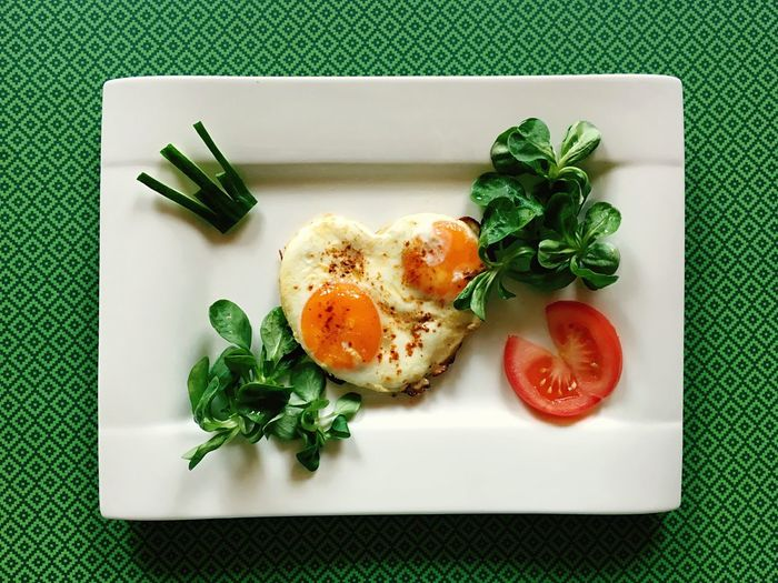 Eggs for breakfast :) Egg Breakfast Plate Food Indoors  Green Color Food And Drink Healthy Eating Spinach Egg Yolk Freshness Table No People Leaf Fried Egg Ready-to-eat Close-up Day Eggs