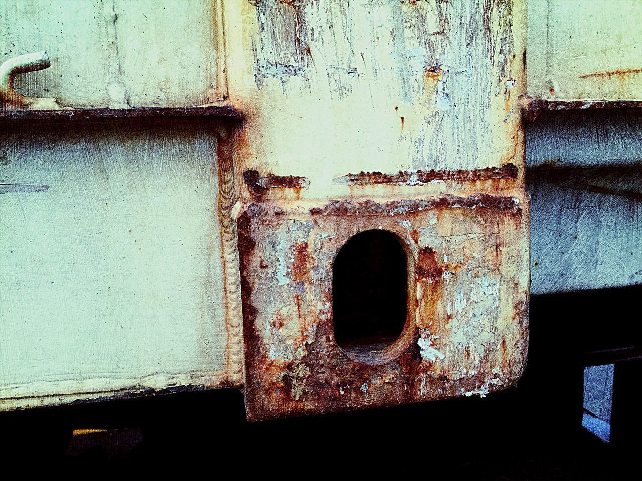 old, metal, rusty, no people, weathered, architecture, built structure, day, close-up, decline, deterioration, damaged, run-down, hole, abandoned, full frame, outdoors, bad condition, safety, entrance