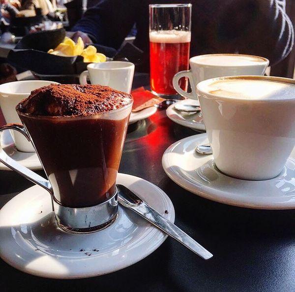 Liquid Lunch Italy❤️ AirPlane ✈ Cappuccino Choccolate GotoThailand