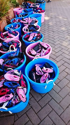 Colourful Baskets For Sale On Offer Seaside Beach Having Fun Holiday Day Out Sea And Sky Sand Check This Out Taking Photos Hello World Bkackpool Sands,