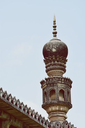 Architecture Travel Destinations History Religion Old Ruin Travel Tourism Sky Built Structure Ancient Building Exterior Day Outdoors No People Coexistence Cloud - Sky Ornate Hyderabad Building Travel Architecture Monumental Buildings