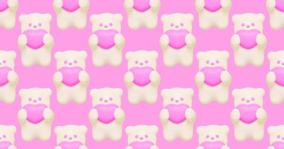 Full frame shot of pink candies