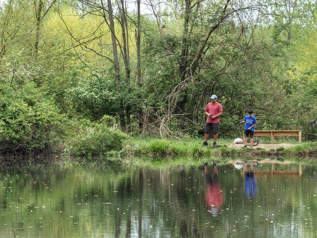 Fishin' Panasonic Lumix DMC-FZ80 Water Real People Plant Waterfront Tree Reflection Nature