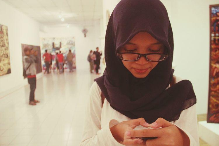 When my sister take her holiday in jogja. Visit artjog. Artjog Exhibition Sister Yogyakarta, Indonesia