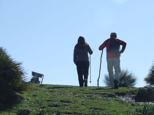 Algámitas Crag Grass Hikers In The Top Landscape Mountains Mountains And Sky Pluviometer Rising Up Rocks Rocks And Grass Sierra Del Tablón Stony Stony Ground Tank Terril Trekking Trekking Nature Love TrekkingDay Walking Up