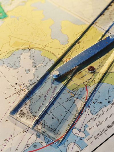 Nautical Theme Nautical Charts Nauticallife Life Onboard Multi Colored Backgrounds Full Frame Close-up
