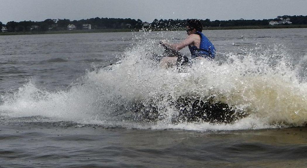 Doughnuts Escapism Jetski Jetskiing Motion Outdoors Power In Nature Recreational Pursuit Splashing Water Wave