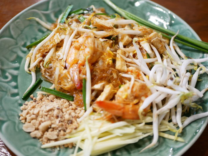 Thai noodle shrimp Food Food And Drink Ready-to-eat Freshness Healthy Eating Wellbeing Indoors  Italian Food Close-up Serving Size Asian Food Still Life Pasta Vegetable No People Meat Plate Bean High Angle View Meal Dinner Crockery Chinese Food Japanese Food