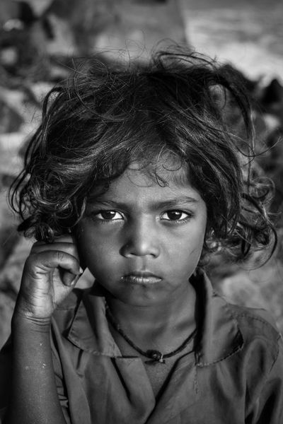 Child Close-up Girls Portrait Depression - Sadness Childhood One Person Human Face One Girl Only Beauty People Outdoors Human Body Part Day Adult Mahabalipuram Boy Children Childportrait Boyportrait Blackandwhite