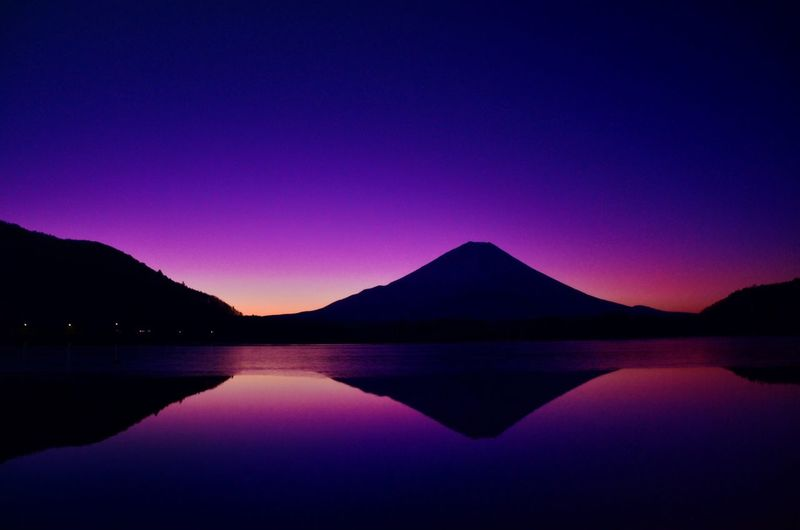 Japan Lake Shoji Mount FuJi Sunrise Landscape Of Japan It's Beautiful Was Impressed