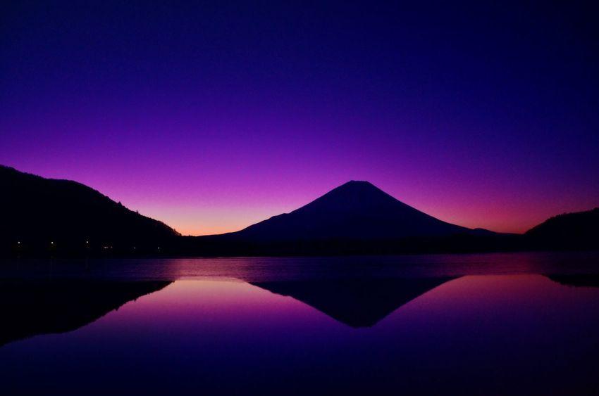Japan Lake Shoji Mount FuJi Sunrise Landscape Of Japan It's Beautiful Was Impressed