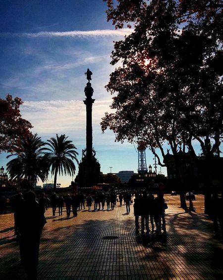 Barcelona Rambla Columbus Ig_worldclub Ig_great_pics Travel Holiday Vacation SPAIN Ig_europe Ig_exquisite Instagram Instagood Igersoftheday Igers Igaddict Picoftheday Photooftheday Instaworld Sky Clouds Igoftheday