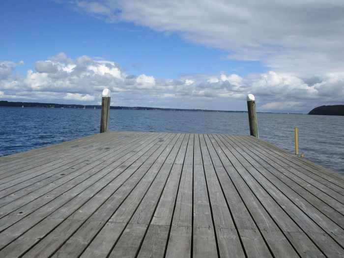 Jetty Leading To Calm Sea