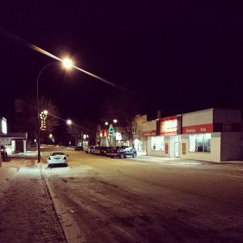 Downtown Night Carman Smalltowngirl winter