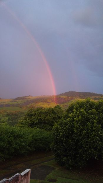 #NoFilter #nofilter#noedit Agriculture Rural Scene Field Outdoors Rainbow No People Hill Nature Day Beauty In Nature