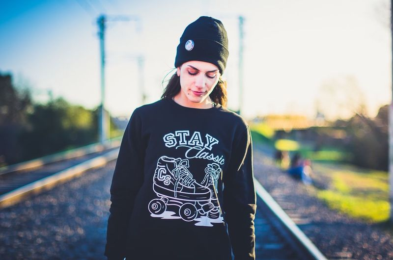 Rollerskate Ramonawheels SunsetCasual Clothing Young Women One Young Woman Only Lifestyles People