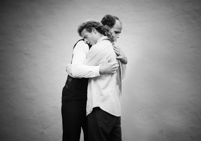 The embrace - MAinLoveWithPeople and Big Boys Hugging Hugs Hug Hug Me Embrace Embracing Monochrome Black And White Black & White Bnw Bnw_life Bnw_captures Bnw Photography Bnw_collection People People Photography People Are People Love True Love Beauty In Ordinary Things How I Feel At Times How I See People How I See The World