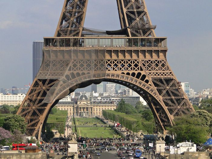 Eiffel Tower In City