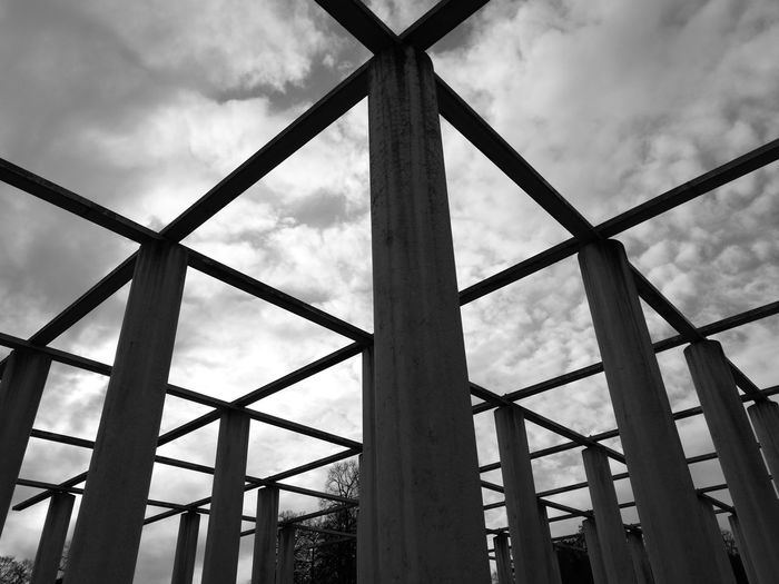 Architecture Pattern Built Structure Cloud - Sky Day Outdoors No People Rectangles Blackandwhite Sky Simple Simplicity Geometric Clean