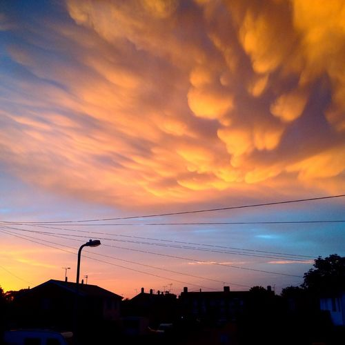 Mammatus Mammatus Clouds Sunset Cloud - Sky Sky No People Power Supply Electricity  Beauty In Nature Nature Outdoors
