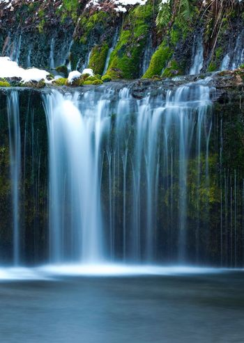 Waterfall Motion Water Long Exposure Beauty In Nature Nature Waterfront Scenics Blurred Motion No People Outdoors Forest Day Tree Shades Of Winter