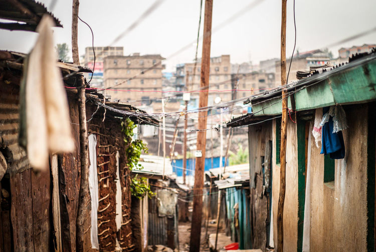 View Of Slums Against Sky