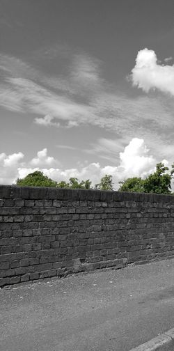 Cloud - Sky Wall Pavement Road Bricks Rural Urban Stonework Stonewall Tree Travel