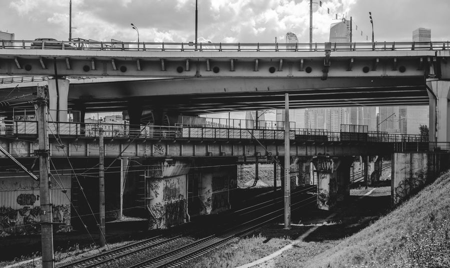 Architecture Built Structure Cloud - Sky Day Engineering Journey No People Outdoors Public Transport Railroad Bridge Railway Track Sky Transportation