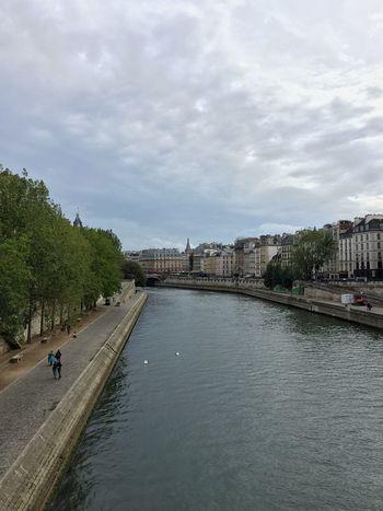 Paris River Seine Architecture Water City Waterfront Autumn