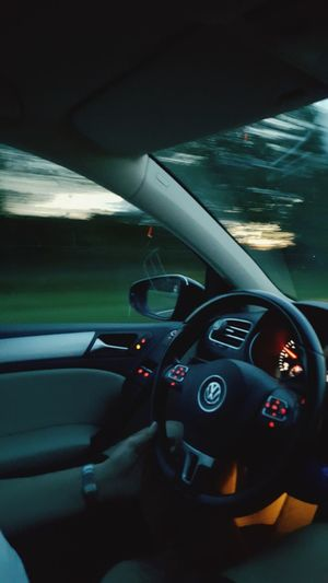 Late night car drives Car Car Interior Transportation Driving Steering Wheel Dashboard Travel Close-up Day Volkswagen Netherlands Guy