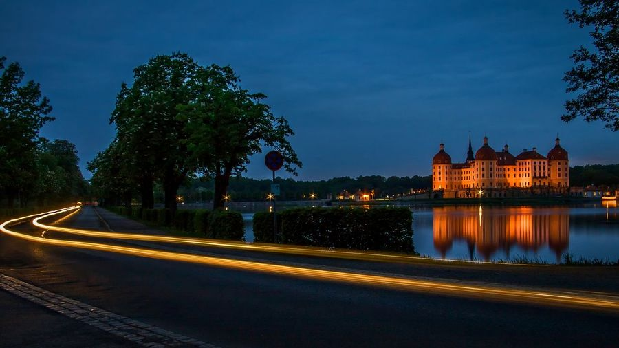 Evening lights at the castle Moritzburg in Saxony Reflections In The Water Dusk Dusk Colours Longexposure Nightphotography Night Photography Nightlife Night View EyeEm Best Shots EyeEm Nature Lover EyeEm Selects EyeEm Gallery Eye4photography  EyeEmBestPics EyeEm Best Edits EyeEm Masterclass Moritzburg  Schloss Schloss Moritzburg Sachsen Saxony Night Lights Historical Building Historic Building Historic Water Illuminated Reflection Long Exposure Light Trail