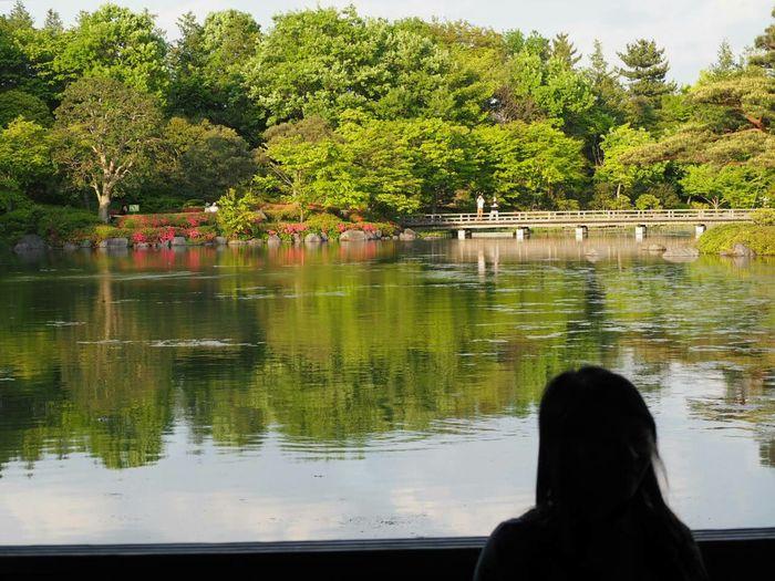 Walking Around Relaxing Taking Photos Soaking Up The Sun Enjoying The Sun Landscape Japanese Garden 女性が座っていて、なかなか動かず(苦笑)。これはこれで良いか!