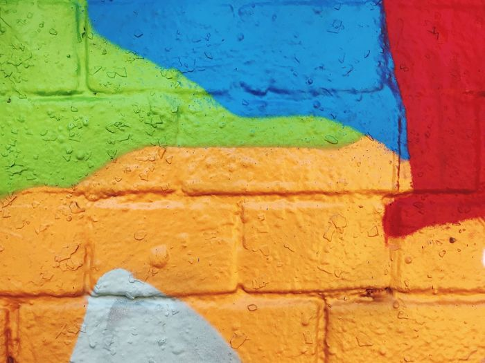 Wall - Building Feature Architecture Built Structure Multi Colored Full Frame No People Backgrounds Art And Craft Creativity Paint Textured  Wall Building Exterior Painted Close-up