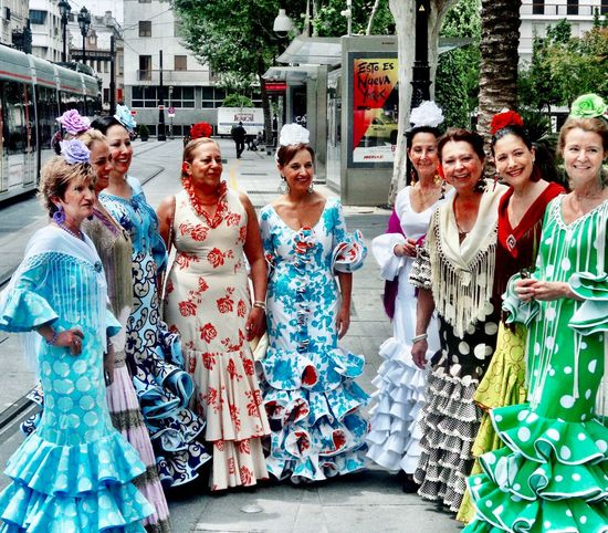 La Feria de Abril Group Of Women Group Photo Group Group Of People Celebration Travel Traditional Clothing Traditional Festival Tradition Festivities Feria Feria De Abril Seville,spain Seville SPAIN Group Of People Women Real People Day Adult People Lifestyles Fashion Clothing Togetherness Street #urbanana: The Urban Playground Summer In The City EyeEmNewHere
